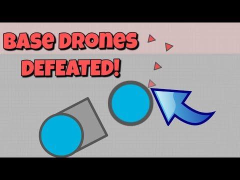 Diep.io BASE DRONES DEFEATED?!?