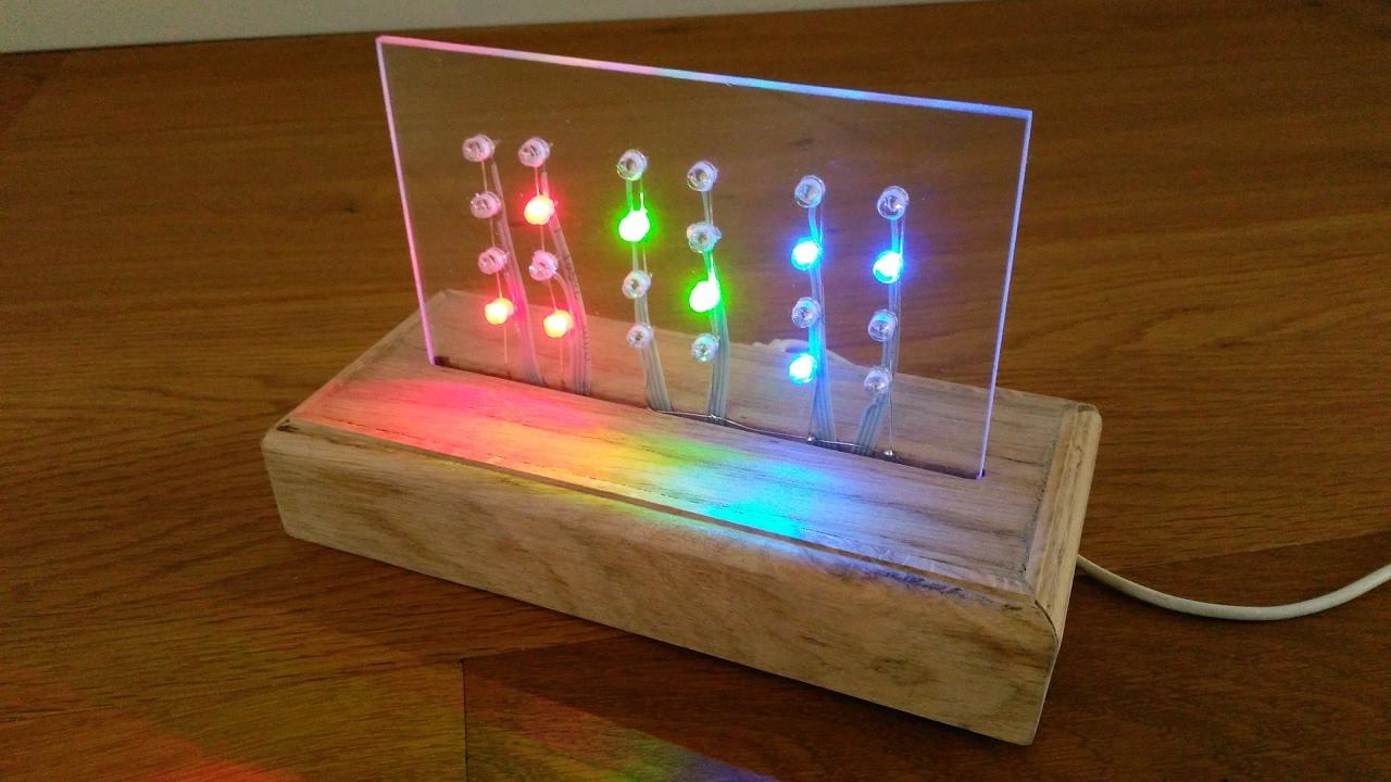 DIY WiFi binary clock with ESP12