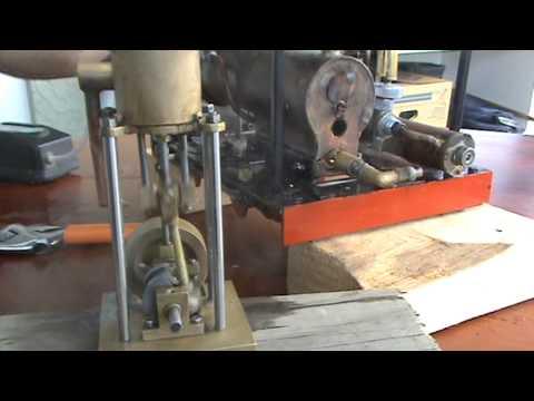 Steam tram powering home made slide valve engine