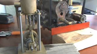 Steam tram powering home made slide valve engine