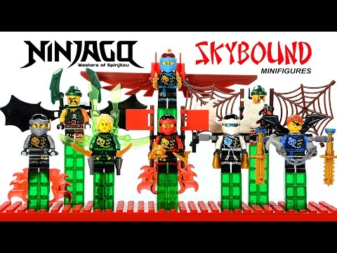 Ninjago Skybound w/ Jetpack Glider LEGO KnockOff Minifigures Set 30 Kai Lloyd Jay Zane & Cole