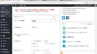 All in One SEO Pack XMLサイトマップ設定方法 WordPressプラグイン
