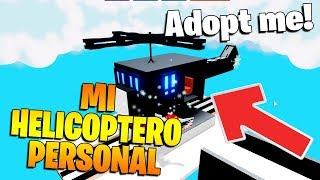 HOW TO HAVE A HELICOPTER IN ADOPT ME ROBLOX!
