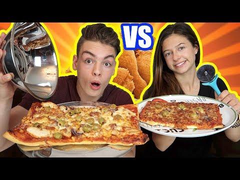 Wer macht die bessere PIZZA?! - Challenge gegen meine Freundin !!!