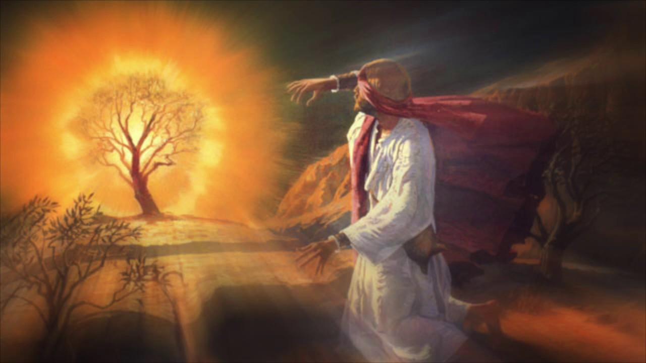 Картинка моисей у горящего куста