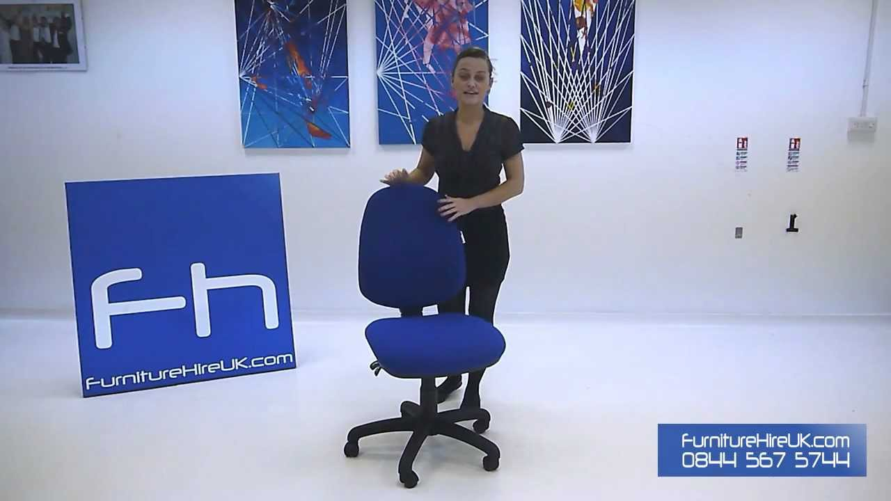 Blue Operators Chair without Arms Demo - Furniture Hire UK