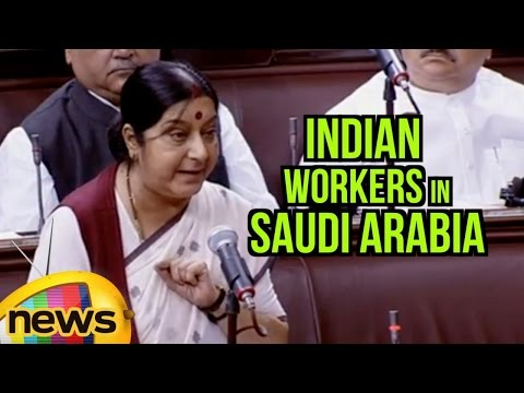 Sushma Swaraj Speaks About Indian Workers In Saudi Arabia | Rajya Sabha | Parliament Session