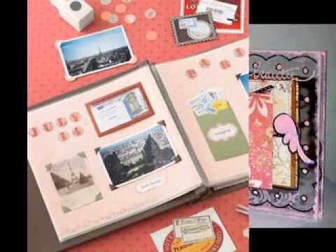 photo album scrapbook decor ideas youtube. Black Bedroom Furniture Sets. Home Design Ideas