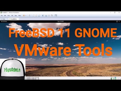 How to Install VMware Tools in FreeBSD 11 GNOME   SysAdmin [HD]