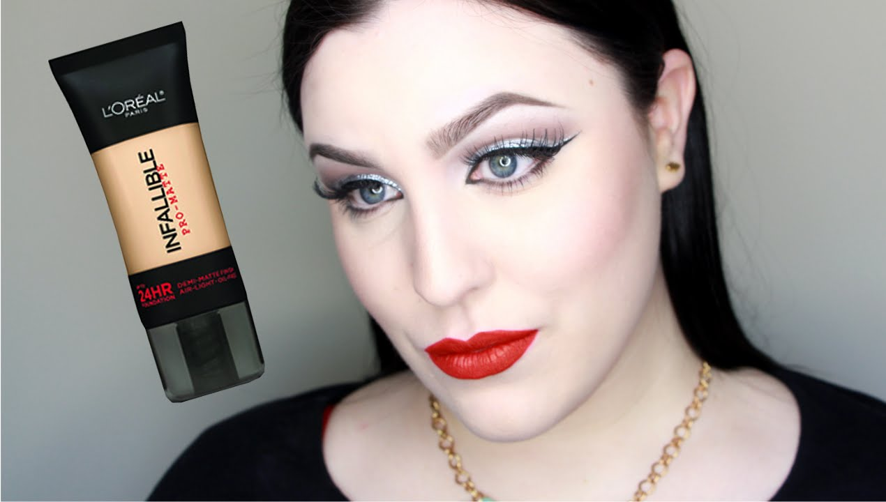 Loreal Infallible Pro Matte 24 Hour Wear Foundation Review Youtube