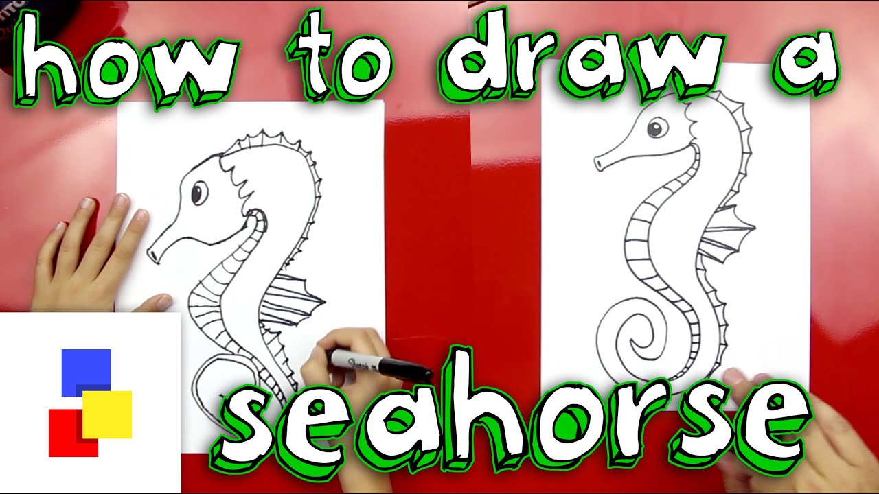 How To Draw A Seahorse Art For Kids
