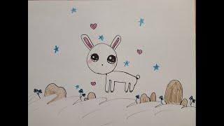 [캐롤린의 그림그리기] 귀여운 토끼 그리기 (유아/초등…