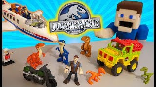 Jurassic World Movie Imaginext Playset Toys Dinosaur Jeep Fisher Price Unboxing PLAYMOBIL DINO PLANE