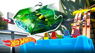 CAR CATAPULT TRACK CHALLENGE! | Labs Unlimited | @Hot Wheels