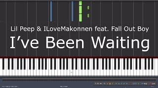 Lil Peep & ILoveMakonnen feat. Fall Out Boy – I've Been Waiting - Piano Tutorial Video