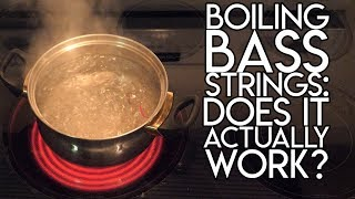 Boiling Bass Strings:  Does it actually WORK? | SpectreSoundStudios TUTORIAL