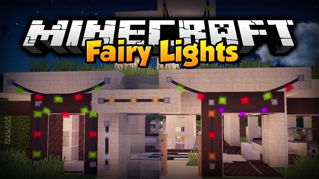 Minecraft Wall Light Mod : Minecraft Mod Showcase : Fairy Lights 1.7.10 - YouTube