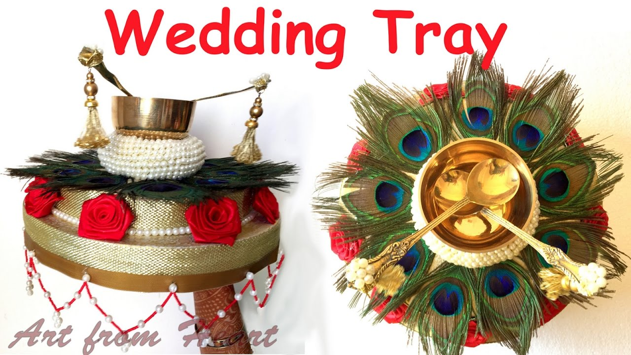 Diy How To Make Decorative Wedding Tray Plate Wedding Decoration