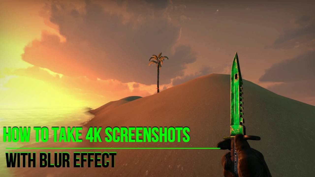 How To Make 4k Screenshots In Cs Go With Blur Effect Any Monitor Youtube