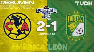 Resumen y goles   América 2-1 León   Torneo Guard1anes 2021 BBVA MX J10   TUDN