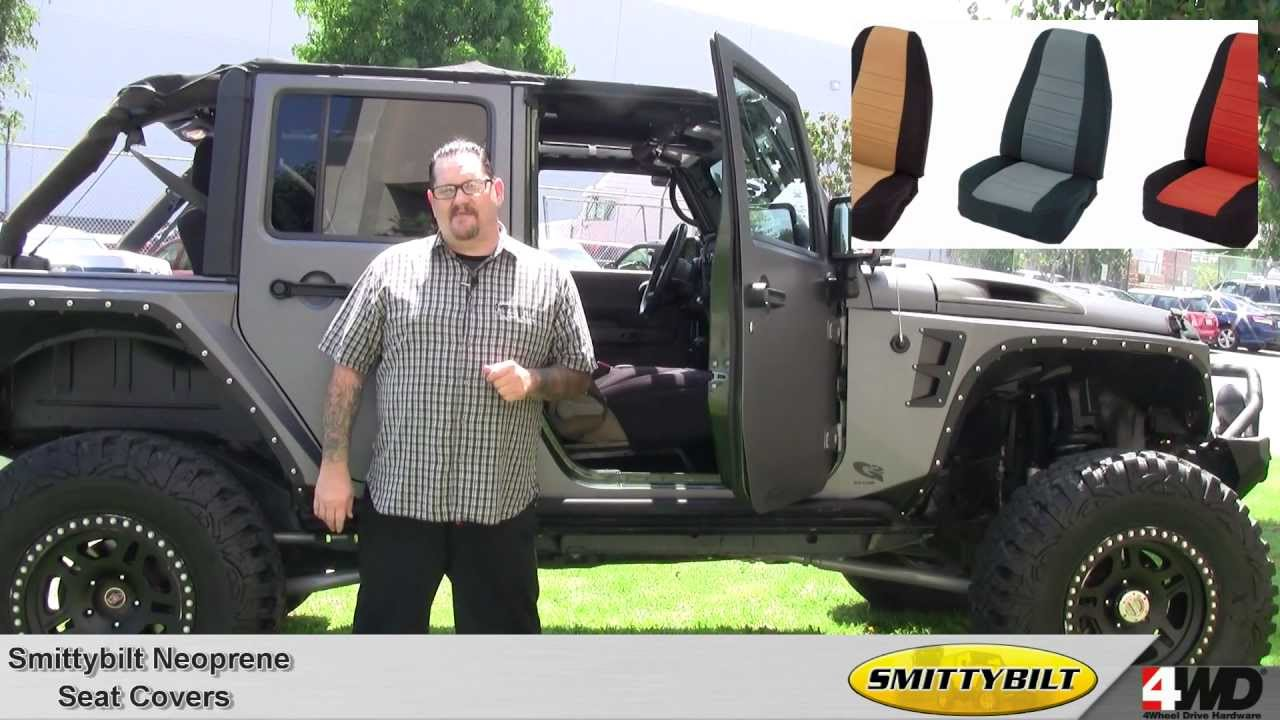Smittybilt   Neoprene Seat Covers   Jeep Interior   Jeep Seat Covers    YouTube
