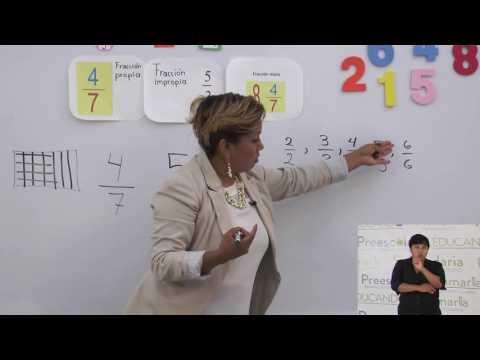 Primaria 3º y 4º clase: 27 Tema: Fracciones mayores o menores que la unidad