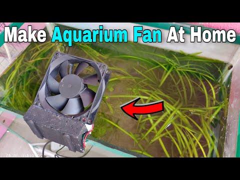 Make Aquarium Fan At Home | Homemade Aquarium Cooling Fan | Aquarium Fan Kase Banaye | CrazyF India