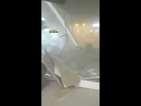 Accra Mall ceiling collapse; two reportedly injured