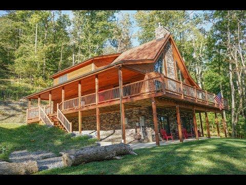 Inside a Custom Mountaineer Log Home at Deep Creek Lake | 249 Mary's Lane