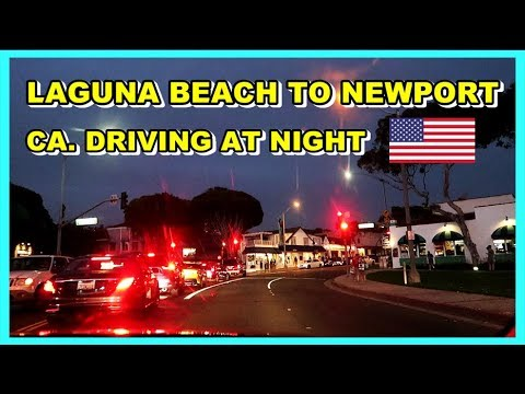 LAGUNA BEACH TO NEWPORT BEACH CALIFORNIA DRIVING AROUND & LOOKING FOR WALMART BUT WE CAN'T FIND IT