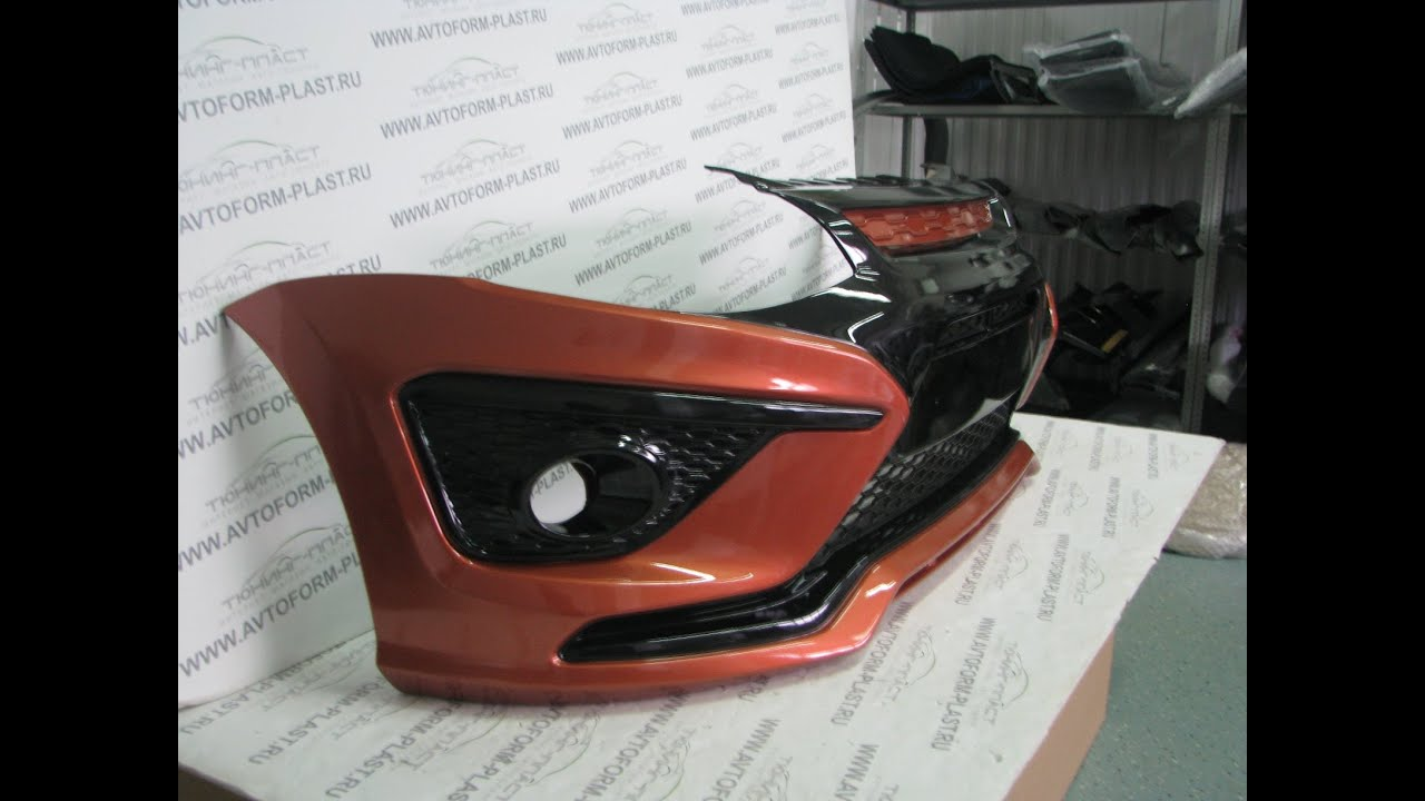 Бампер передний лада калина-2 оригинал. Окрашиваем в цвет вашей машины который можно узнать в гарантийном талоне.