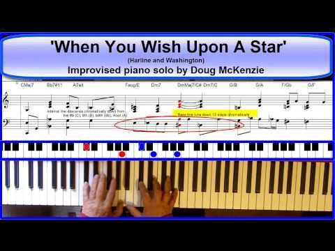'When You Wish Upon A Star' - jazz piano tutorial