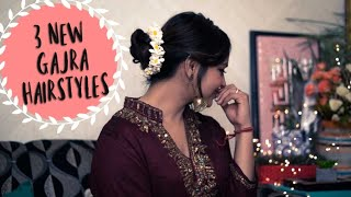 3 New Gajra Hairstyles (हिंदी)   Wedding Hairstyles for every Face Shape