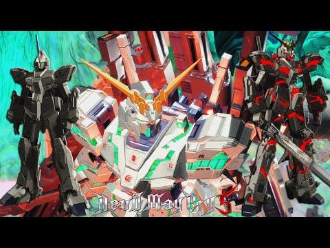 Dante replaces Unicorn Gundam - Devil May Cry 5 [MOD] |