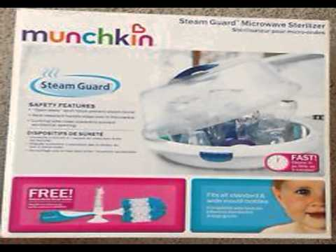 munchkin microwave bottle sterilizer instructions