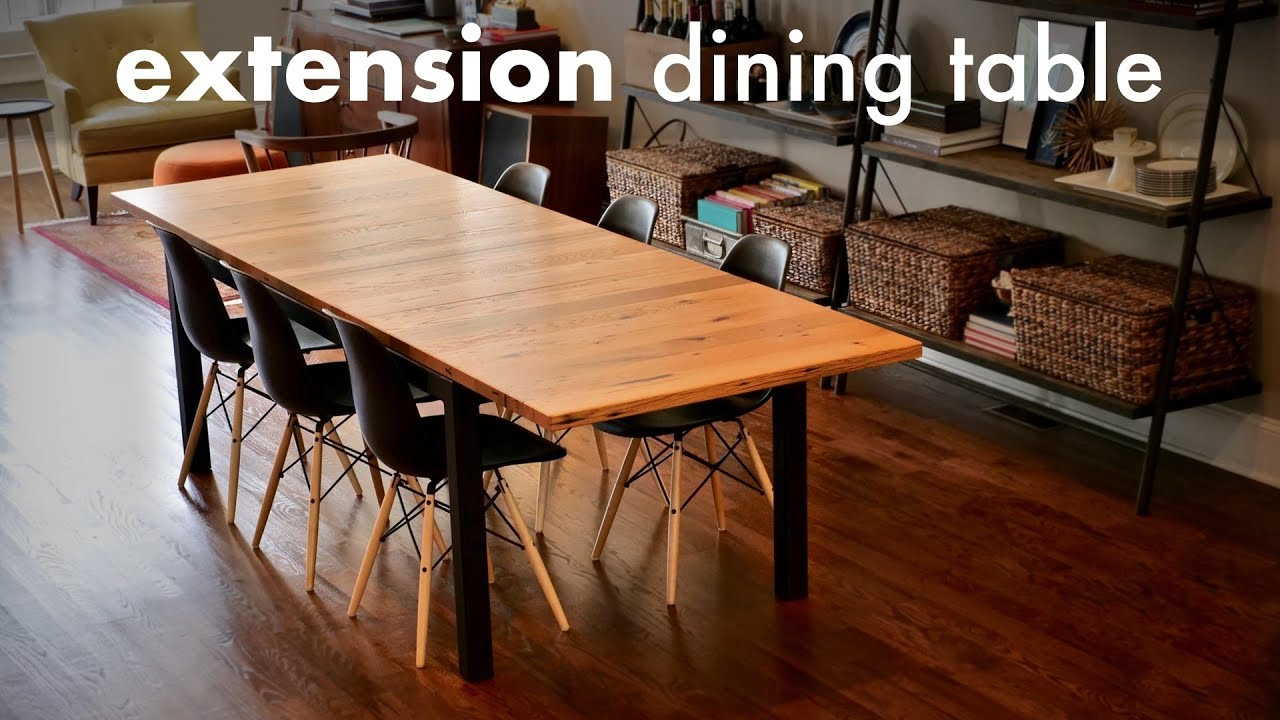 Reclaimed Oak Extension Dining Table How To Build Woodworking Welding