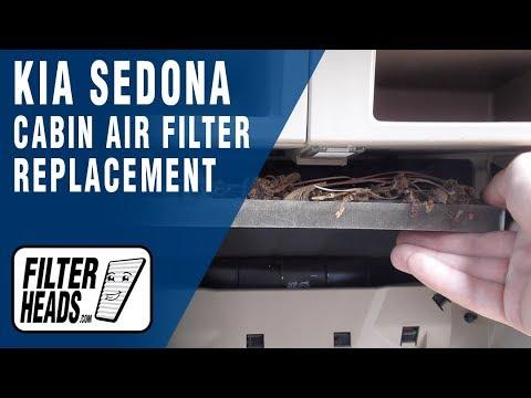 How to Replace Cabin Air Filter 2011 Kia Sedona