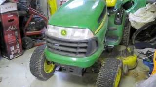 John Deere LA130 Riding Lawnmower Start Up, Engine and Full Tour