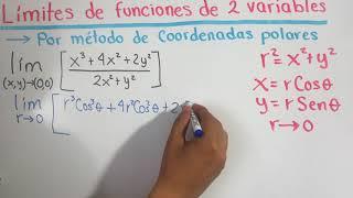 Limite de dos variables por método de trayectorias