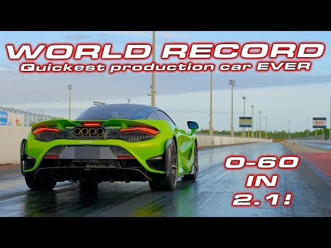 A NEW KING * Quickest Production car EVER * McLaren 765LT 1/4 Mile Testing