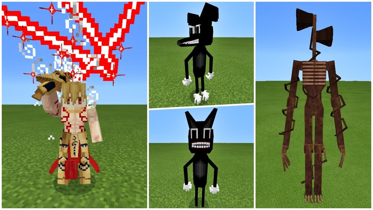 How to KILL Trevor Henderson's Creatures: Siren Head, Cartoon Cat, Cartoon Dog in Minecraft PE Addon