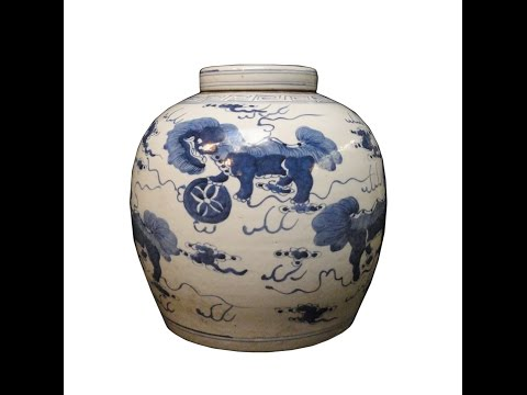 Pair Blue and White Ming Porcelain Ginger Urns Vases from YouTube · Duration:  34 seconds