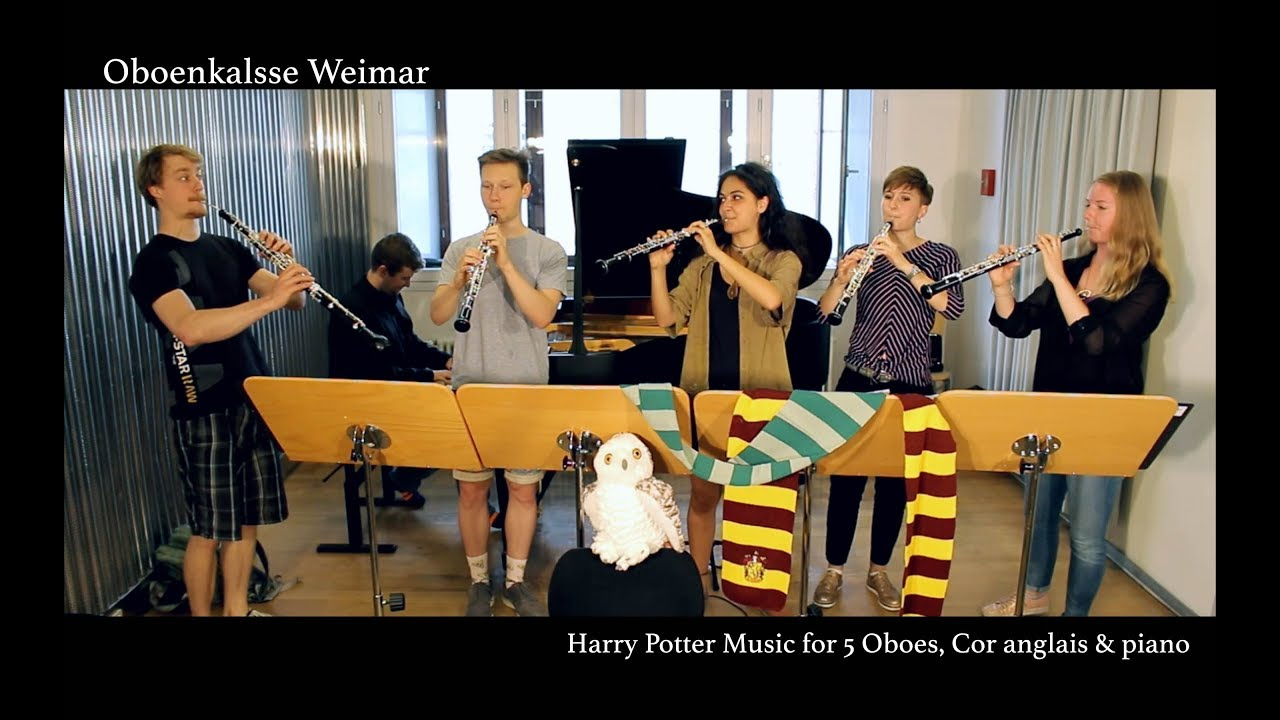 Harry Potter Hedwig S Theme Oboe Cor Anglais Piano Cover Oboenkalsse Weimar Youtube