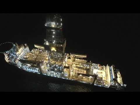 Drilling Ship ENSCO DS7 227 meters in Limassol