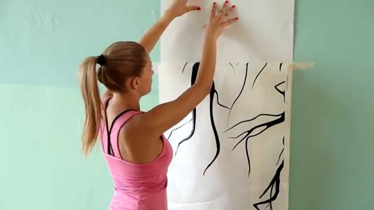 Big Tree Wall Decal Installation By Wwwartollocom Quality - Instructions on how to put up a wall sticker