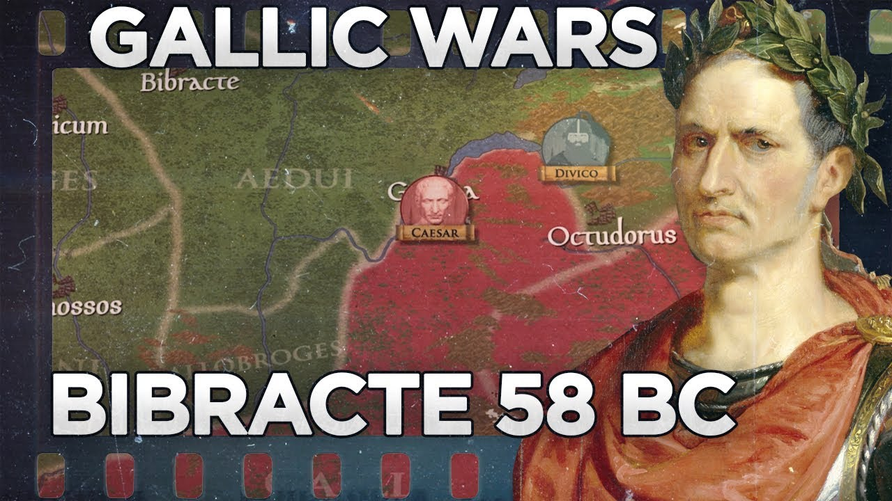Caesar and Gallic Wars: Battle of Bibracte 58 BC DOCUMENTARY
