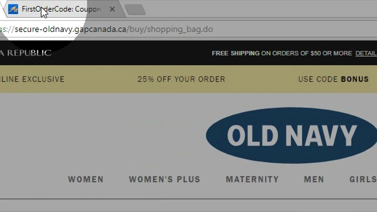 How To Use Old Navy Canada Coupon Youtube