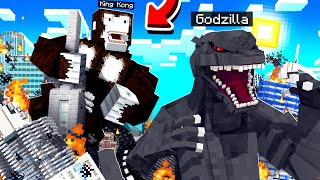 GODZILLA vs KING KONG BATTLE in MINECRAFT!
