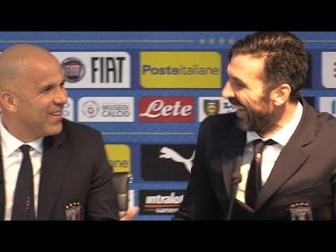 Luigi Di Biagio & Gianluigi Buffon Press Conference - Italy v Argentina - International Friendly