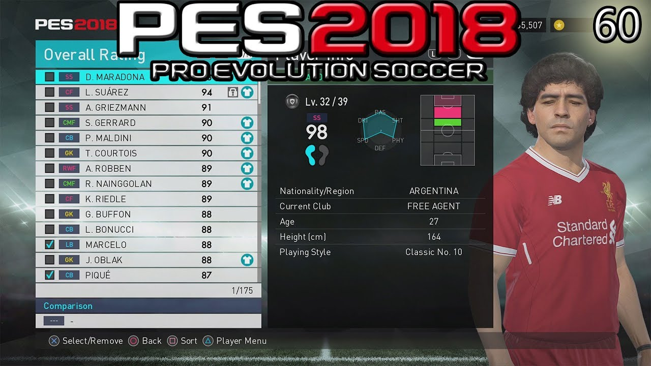 PES 2018 myClub | Player + Manager List for Challenges #60